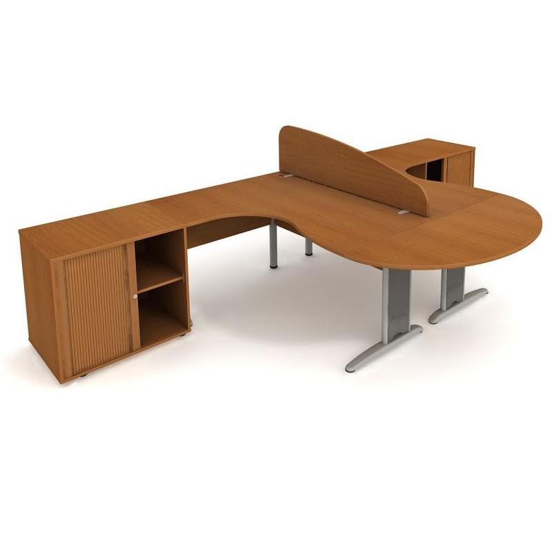 sestava Hobis CROSS SC 1, Barva stolové desky Olše Office Pro 071528700