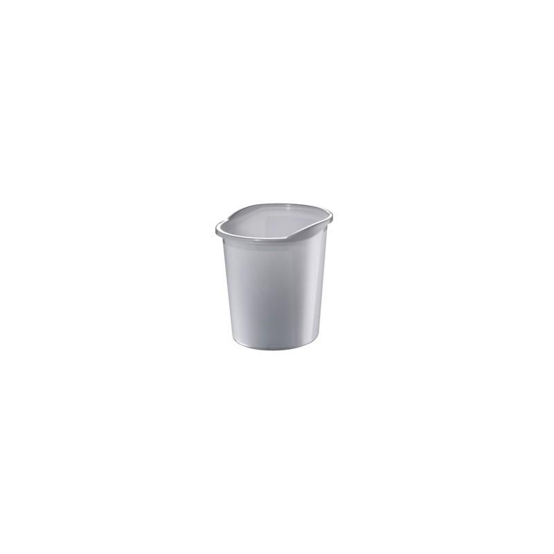 Koš na papír 13l transparentní šedý 075004700