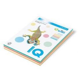 Kancelářský papír barevný IQ color, A4/80g, mix 5x50, IQC480/P-RB
