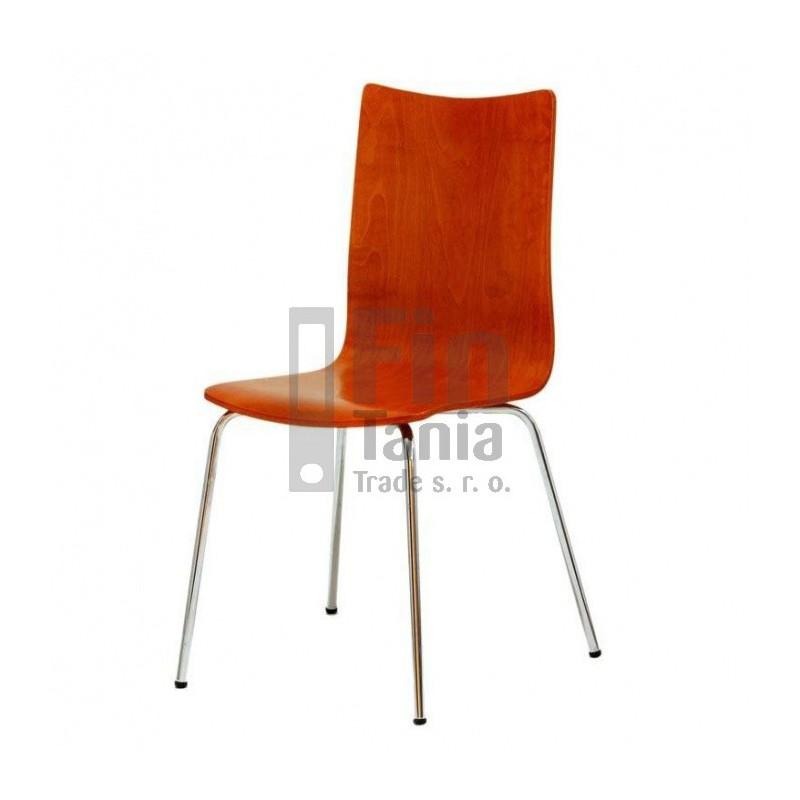 Jídelní židle Rita , Barva Buk, Barva nohou Chrom Office Pro 073400500 Jídelní židle