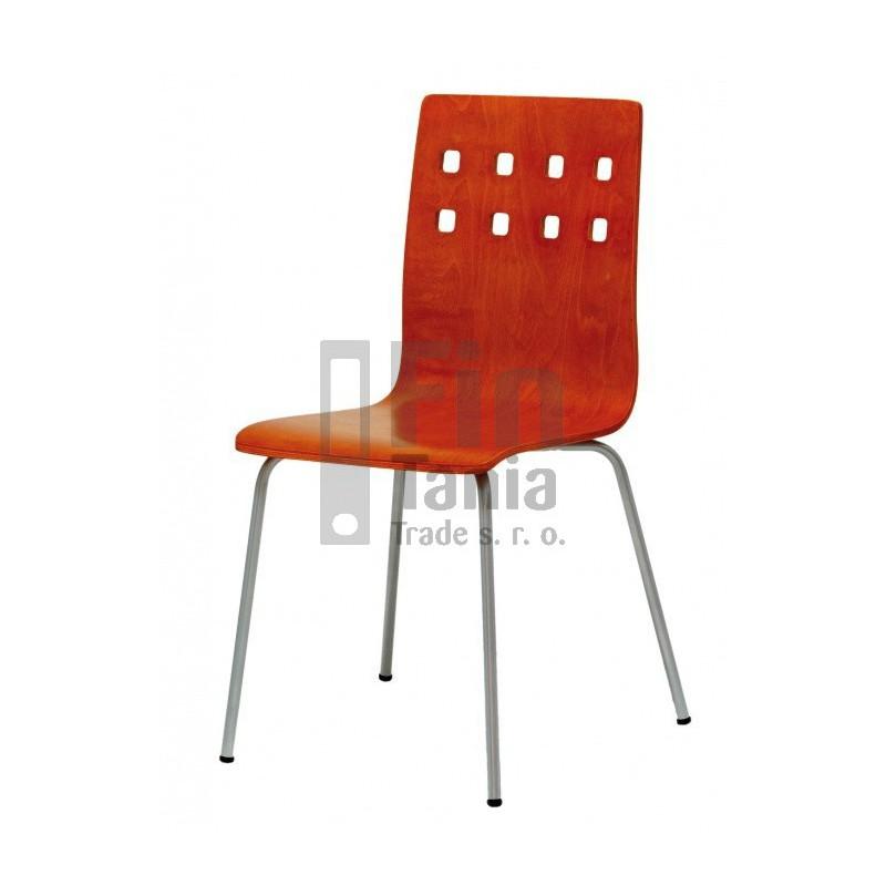 Jídelní židle NELA, Barva Buk, Barva nohou Hliník 073400300 jídelní židle
