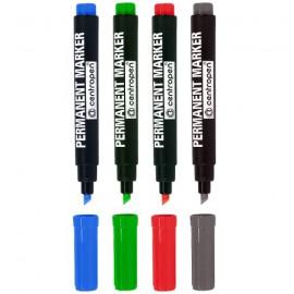Značkovač CENTROPEN 8576 permanentní (4 barvy)