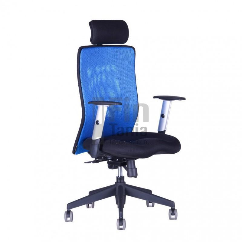Kancelářská židle CALYPSO XL SP1 (7 barev), Látka 14A11 modrá, Sedák černý Office Pro 0725079xx Kancelářské židle a křesla