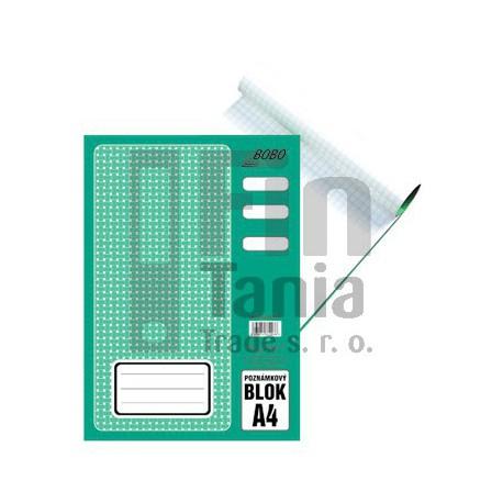 Blok A4 poznámkový čtverečkovaný