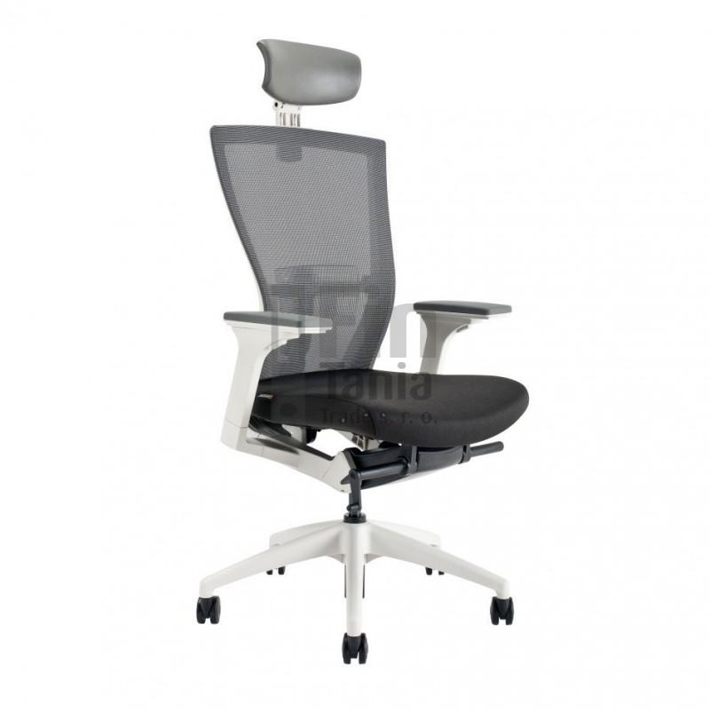 Kancelářská židle MERENS WHITE SP, Látka BI 201 černá Office Pro 0733017xx Kancelářské židle a křesla