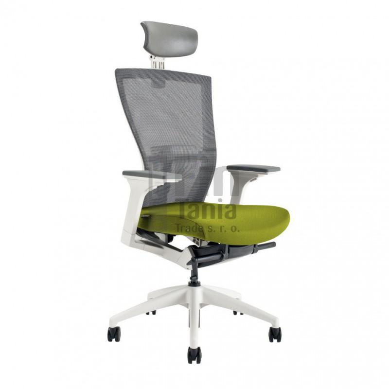 Kancelářská židle MERENS WHITE SP, Látka BI 203 zelená Office Pro 0733017xx Kancelářské židle a křesla