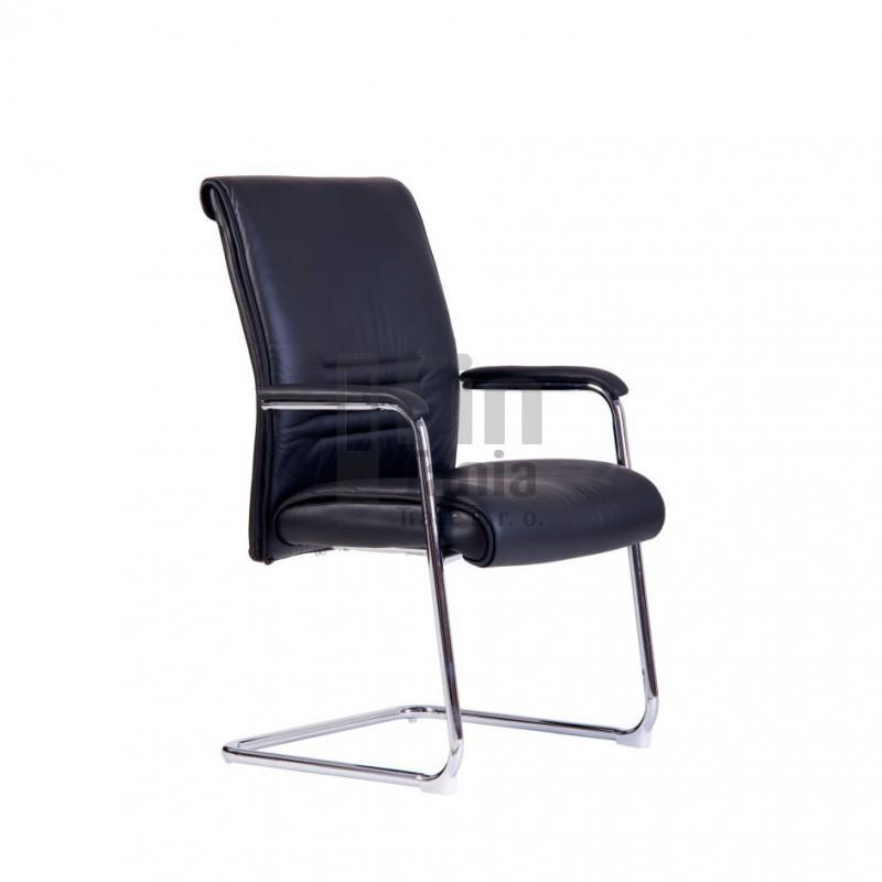 jednací židle Sinope Meeting, kůže, Kůže L001 černá Office Pro 0734015xx jednací židle