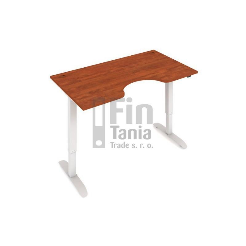 Rostoucí stůl Hobis Motion ERGO MSE 2 1400 - 140 x 90, Barva Šedá, Barva nohou Bílá RAL 9016 Office Pro 099802200 psací stůl