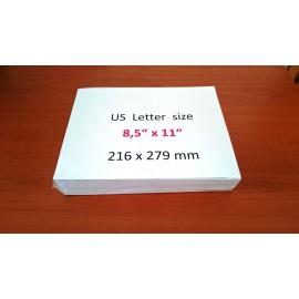 "US paper letter size 8,5 x 11"""