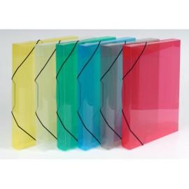 Desky krabice s gumou TIM A4 (4 barvy)