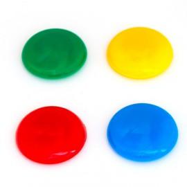 Magnety barevné 40 mm/ sada 4 ks