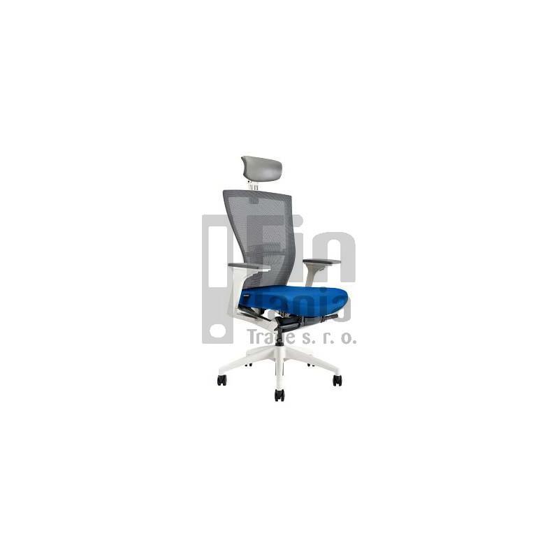 Kancelářská židle MERENS WHITE SP, Látka BI 204 modrá Office Pro 0733017xx Kancelářské židle a křesla