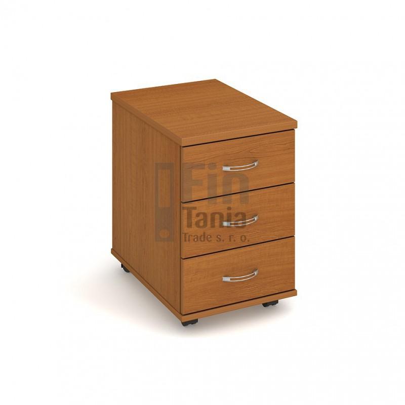 Kancelářský kontejner Hobis K 23, Barva korpusu Akát, Léta podél, Barva dveří celobarva Office Pro 099196098 Zásuvkové kontejnery