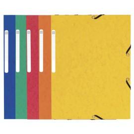 Mapa odkládací A4, 253-3klopy, s gumičkou, prešpán 350g (mix barev)