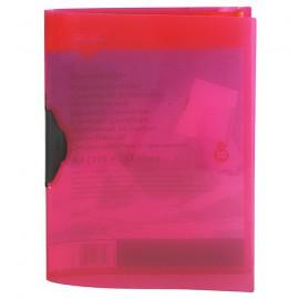 Desky s klipem transparentní A4, růžový