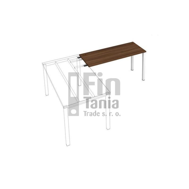Stůl Hobis UNI UE 1400 RU k řetězení - 140 x 60, Barva stolové desky Olše, Barva podnoží Černá Office Pro 010003400