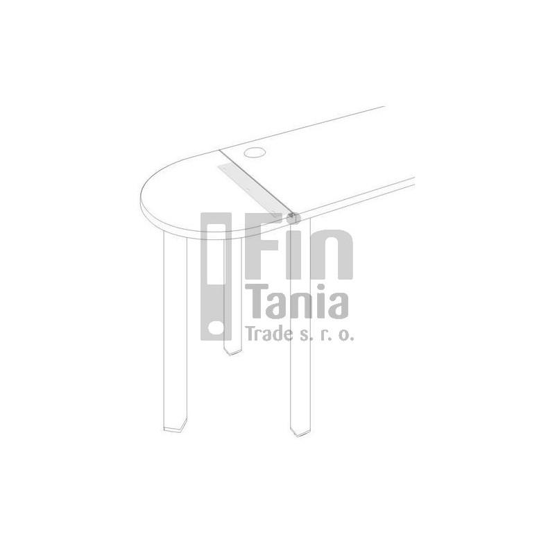Úhelník pro stoly Hobis UL 600, Barva Bílá Office Pro 010003600