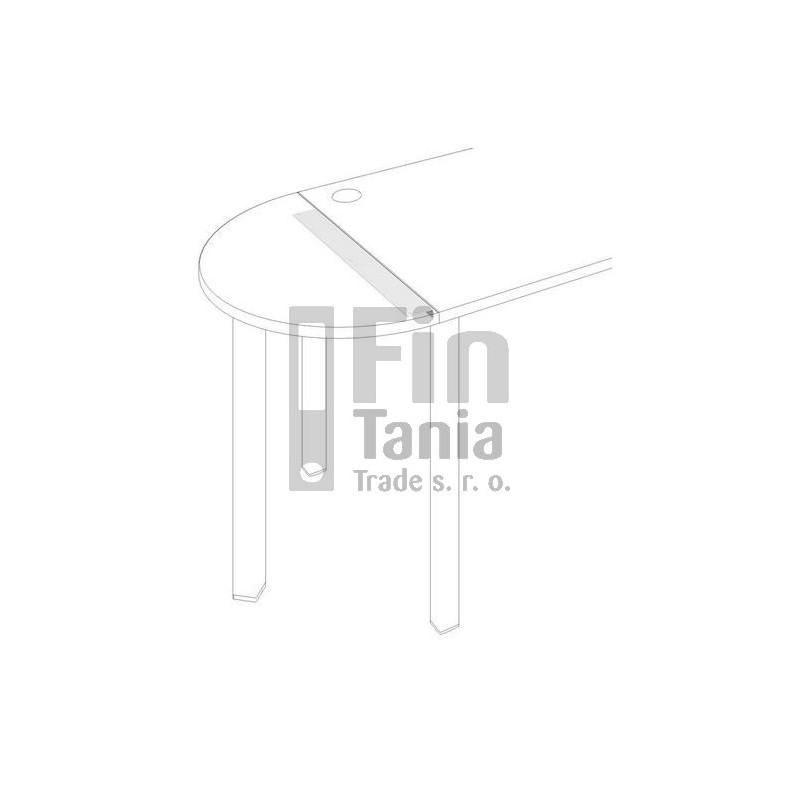 Úhelník pro stoly Hobis UL 800, Barva Bílá Office Pro 010003700