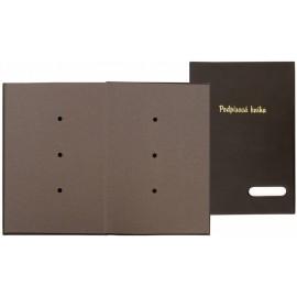 "Podpisová kniha A4 - ""HANIBAL"" černá"