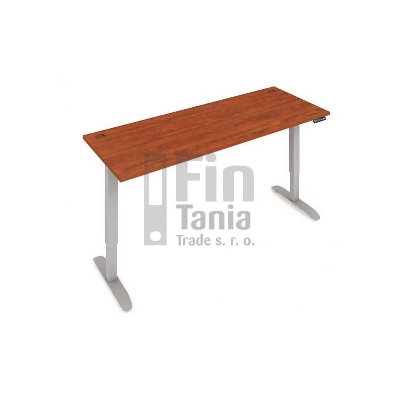 Stůl elektricky výškově stavitelný MS 2M 1800 - 180 x 80, Barva Akát, Barva nohou Černá RAL 9005 Office Pro 099227400 Psací stoly