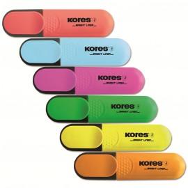 Zvýrazňovač KORES Bright Liner (5 barev)