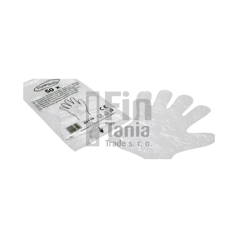 Rukavice jednorázové z polyetylénu 020704800