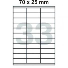 Etikety samolepící Print A4 70,0 x 25,4 mm