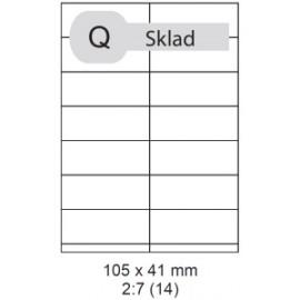 Etikety samolepící Print A4 105 x 41 mm