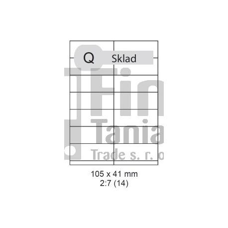 Etikety samolepící Print A4 105 x 41 mm - Helap.cz 3535941cbfe