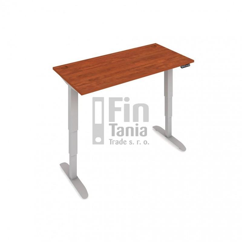 Rostoucí stůl MS 3M 1400 - 140 x 80, Barva Akát, Barva nohou Bílá RAL 9016 Office Pro 099228100 Psací stoly