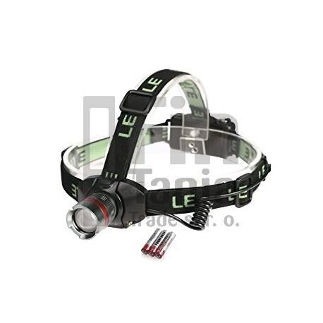 LE čelovka, dosvit 150 m, 400 lm, 1 Cree LED, fokus, 3 režimy