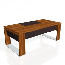 Stůl psací EXNER E 200 K, kůže - 200x100x74