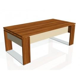 Office Pro EXNER EXPO E 200 S - psací stůl kombinace dřeva a skla, 200 x 100 x 74 cm
