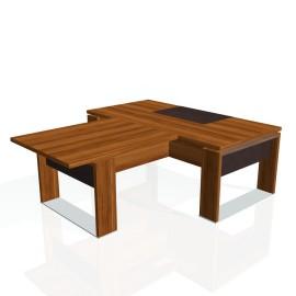 Stůl psací + jednací EXNER ES 2 K, kůže - 200x220x74