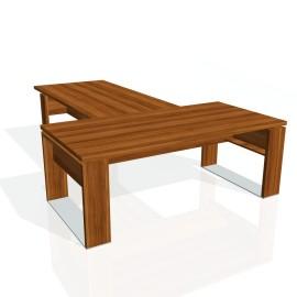 Stůl psací + jednací EXNER ES 3 - 200x300x74