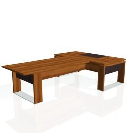 Stůl psací + jednací EXNER ES 3 K, kůže - 200x300x74