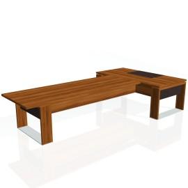Stůl psací + jednací EXNER ES 4 K, kůže - 200x370x74