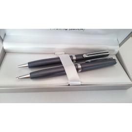 Psací souprava INOXCROM Wall Street mikrotužka +kuličkové pero tmavě šedé
