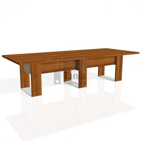 Stůl jednací EXNER EJ 4 S, sklo - 300x120x74