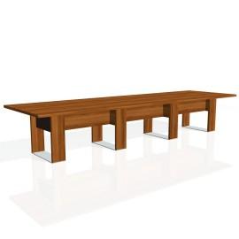 Stůl jednací EXNER EJ 5 K, kůže - 420x120x74