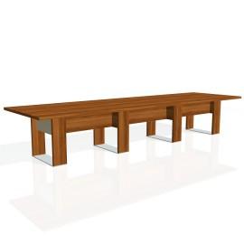 Stůl jednací EXNER EJ 5 S, sklo - 420x120x74