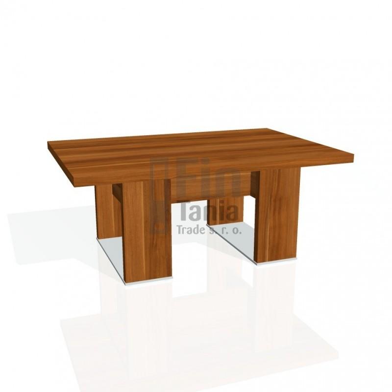 Stůl konferenční EXNER EJ 6 - 120x80x50, Barva Dub antracit Exner 072071700