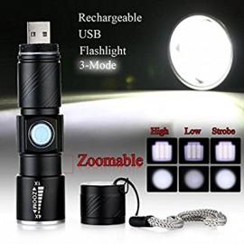 kapesní LED svítilna s dobíjecím USB