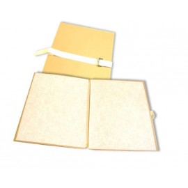 Spisové desky A4 s tkanicí, posuvným hřbetem a uzavírací sponou, velkokapacitní, prešpán