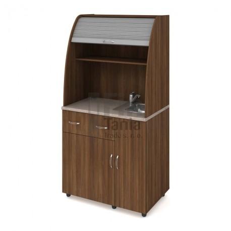 Kuchyň HOBIS vybavená KU 2 1 P, dřez, baterie - 90 x 60