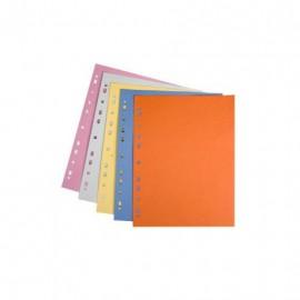 Rozdružovač A4 s europerforací, 100 ks kartonů, barevný mix
