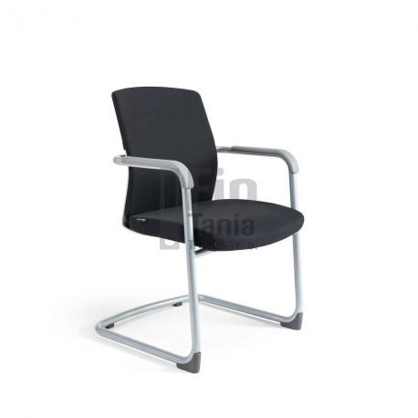 BESTUHL jednací židle JCON WHITE, černý potah
