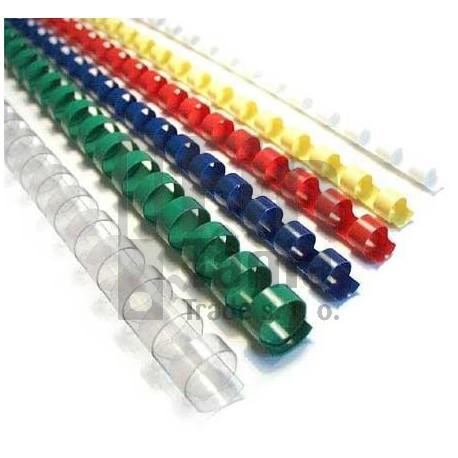 Hřbet plastový kroužkový 10 mm, 41-55 ls (4 barvy)