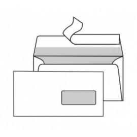 Obálky DL samolepicí páska, okno/ 1000 ks