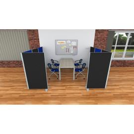 Office Pro příčkový paraván - samostatný prvek v šířce 60, 80, 100 a 120 cm a výšce 118 a 156,5 cm
